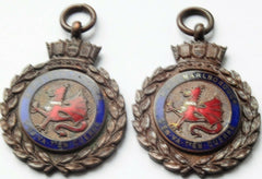 2 X 1924-1925 HMS Marlborough Battleship Water Polo Medals - Confessor the shop for all Collectables Coins Badges Banknotes Medals Tokens militaria