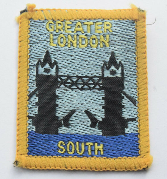 Vintage Scouting Boy Scout  GREATER LONDON SOUTH Badge  Cloth Patch.