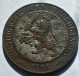 1886 Netherlands 2½ Cents coin
