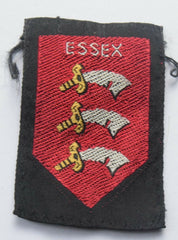 Vintage Scouting Boy Scout ESSEX Badge  Cloth Patch. - Confessor the shop for all Collectables Coins Badges Banknotes Medals Tokens militaria
