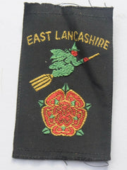 Vintage Scouting Boy Scout  EAST LANCASHIRE Badge  Cloth Patch. - Confessor the shop for all Collectables Coins Badges Banknotes Medals Tokens militaria