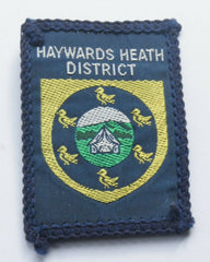 Vintage Scouting Boy Scout HAYWARDS HEATH DISTRICT Badge  Cloth Patch. - Confessor the shop for all Collectables Coins Badges Banknotes Medals Tokens militaria