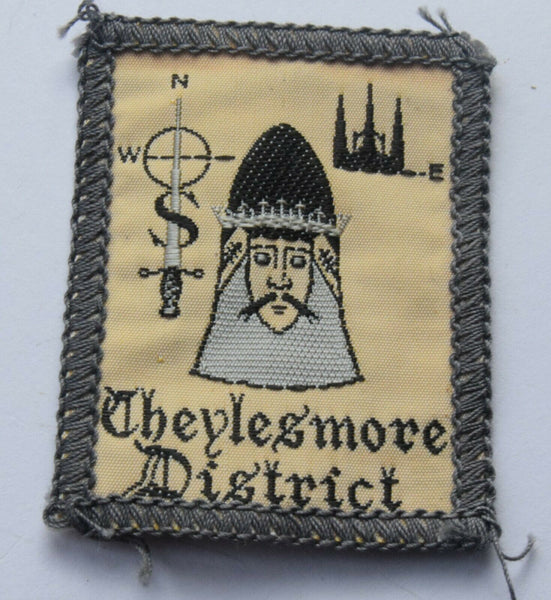 Vintage Scouting Boy Scout CHEYLESMORE DISTRICT Badge  Cloth Patch.