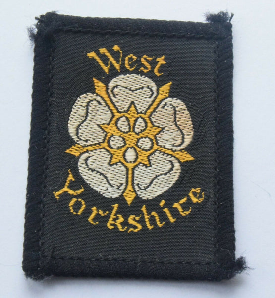 Vintage Scouting Boy Scout  WEST YORKSHIRE Badge  Cloth Patch.