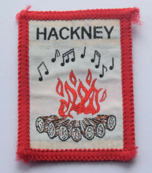 Vintage Scouting Boy Scout HACKNEY Badge  Cloth Patch.