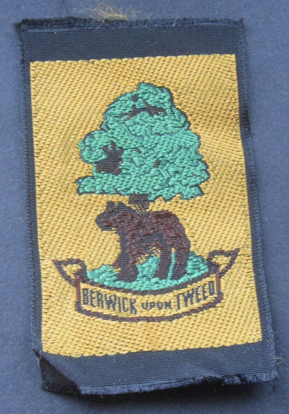 Vintage Scouting Boy Scout Berwick upon Tweed Badge Patch.