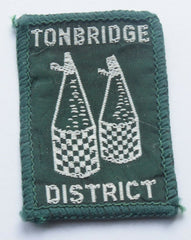 Vintage Scouting Boy Scout  TONBRIDGE DISTRICT Badge  Cloth Patch. - Confessor the shop for all Collectables Coins Badges Banknotes Medals Tokens militaria