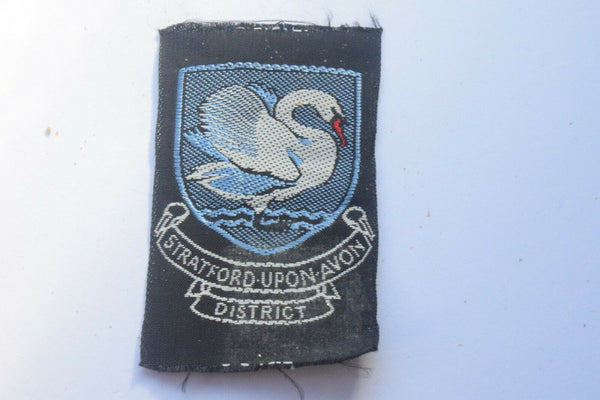 Vintage Scouting Boy Scout Stratford Upon Avon  Badge  Cloth Patch.