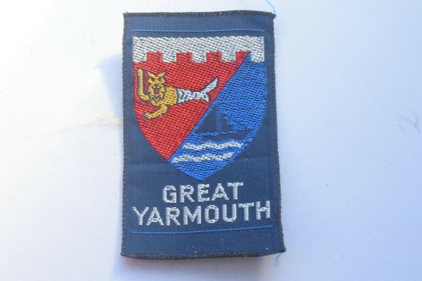 Vintage Scouting Boy Scout Great Yarmouth Badge  Cloth Patch.