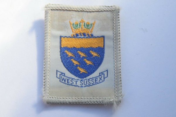 Vintage Scouting Boy Scout West Sussex Badge  Cloth Patch.