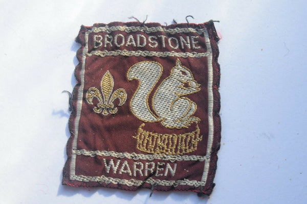 Vintage Scouting Boy Scout Broadstone Warren Badge  Cloth Patch.