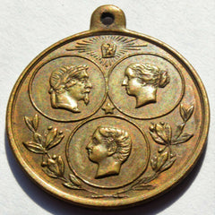 1867 FRANCE UNIVERSAL EXPOSITION ROYAL FAMILY 24 mm MEDAL - Confessor