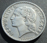 1933 France 5 francs nickel high grade coin