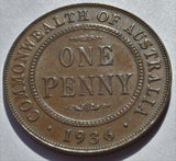 1936 Australia King George V  Penny High Grade coin