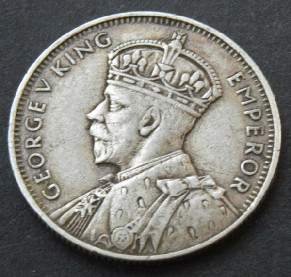 1934 Mauritius King George V 1/4 Quarter Rupee Silver high grade Coin