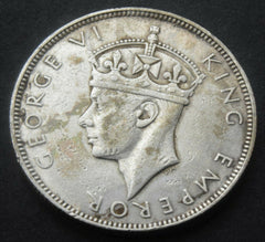 1939 SEYCHELLES King George VI One Rupee silver coin Key date - Confessor the shop for all Collectables Coins Badges Banknotes Medals Tokens militaria