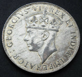 1941 British East Africa George VI Silver Shilling high grade Coin