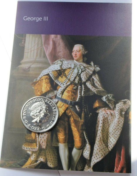 2020 Five Pound Coin £5 King George III From  Royal Mint Set BUNC !