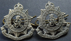 WWII PAIR OF KING GEORGE V NORTH SOMERSET YEOMANRY OFFICERS COLLAR BADGES - Confessor the shop for all Collectables Coins Badges Banknotes Medals Tokens militaria