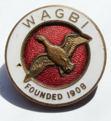 Vintage WAGBI Wildfowlers' Association of Great Britain and Ireland Enamel Badge - Confessor the shop for all Collectables Coins Badges Banknotes Medals Tokens militaria