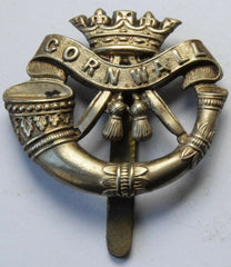 Duke of Cornwall Light Infantry White Metal Military Cap Badge - Confessor the shop for all Collectables Coins Badges Banknotes Medals Tokens militaria