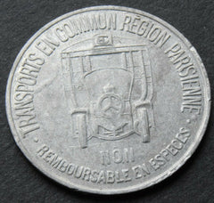 1921 France 35 Centimes Paris Region French Transit Transportation Token - Confessor the shop for all Collectables Coins Badges Banknotes Medals Tokens militaria