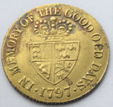 1797 King GEORGE III. MEMORY OF THE GOOD OLD DAYS GAMING TOKEN