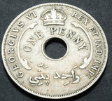 1944 BRITISH WEST AFRICA ONE PENNY COIN