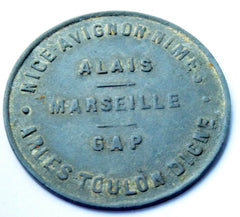1918 France 10 C Region Provencale Nice Avignon Nimes Alais Marseille GAP Token - Confessor the shop for all Collectables Coins Badges Banknotes Medals Tokens militaria