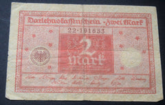1920 GERMANY 2 MARK  BANKNOTE - Confessor the shop for all Collectables Coins Badges Banknotes Medals Tokens militaria