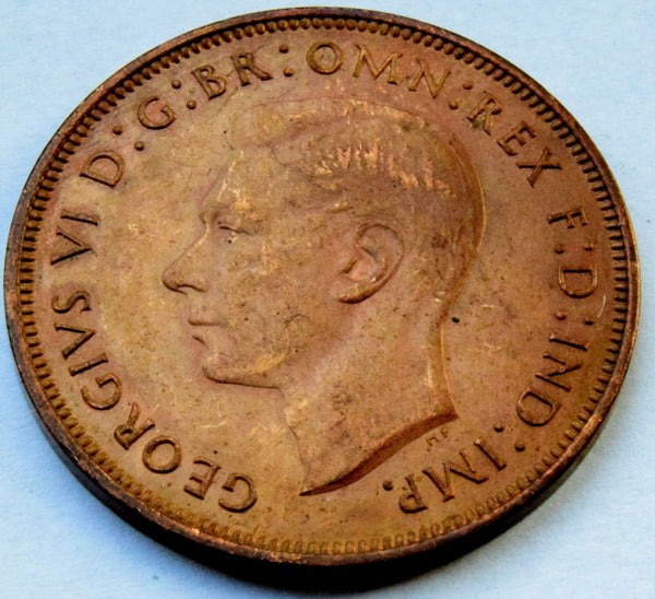 1948 KING George VI - AUNC Full lustre  Penny UK COIN