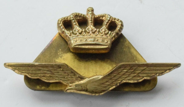 Rare Vintage Netherlands Dutch AIR FORCE  Cap  badge