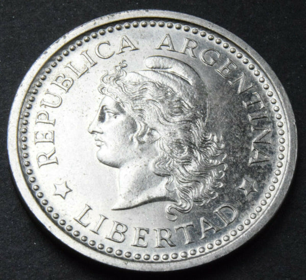 1959 ARGENTINA 1 Peso Nickel clad Steel high grade coin