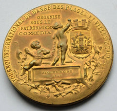 RARE French 1928 Tournoi international danse des plages Bronze Medal - Confessor