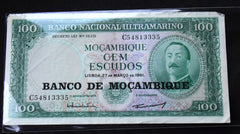 1961 Mozambique Banco De Mocambique 100 Escudos BankNote - Confessor the shop for all Collectables Coins Badges Banknotes Medals Tokens militaria