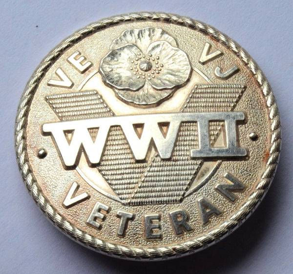 WWII Veterans SILVER PIN Badge second world war VE-VJ