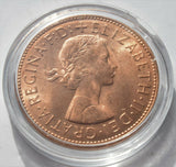 1967 British one penny Queen Elizabeth II Uncirculated UK Coin