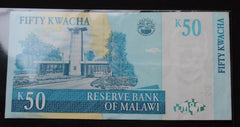 Malawi 50 Kwacha  2007  Banknote - Confessor the shop for all Collectables Coins Badges Banknotes Medals Tokens militaria