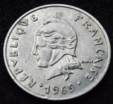1969 20 Francs  French colonial coinage French Polynesia coin