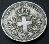 Rare 1919 Italy 20 Centesimi  Overstruck with traces of KM#28 coin