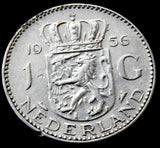 1956 Netherlands Silver 1 Gulden high grade coin