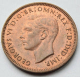 1943 Great Britain  Farthing King George VI high grade UK coin