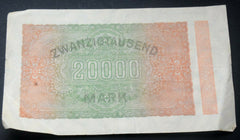 1923 - Germany - 20000 Mark - Reichsbanknote - Banknote - Confessor the shop for all Collectables Coins Badges Banknotes Medals Tokens militaria