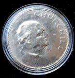 1965 Sir Winston Churchill Crown coin in plastic case