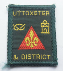 Vintage Scouting Boy Scout  UTTOXETER Badge  Cloth Patch. - Confessor the shop for all Collectables Coins Badges Banknotes Medals Tokens militaria