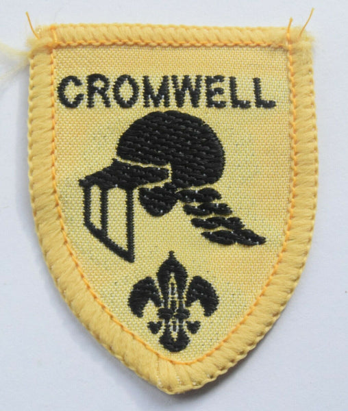 Vintage Scouting Boy Scout CROMWELL Badge  Cloth Patch.