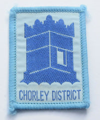 Vintage Scouting Boy Scout  CHORLEY DISTRICT Badge  Cloth Patch. - Confessor the shop for all Collectables Coins Badges Banknotes Medals Tokens militaria