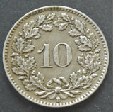 1922 Switzerland, 10 Rappen, coin