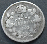 1903 CANADA KING EDWARD VII 5 CENTS, SILVER COIN
