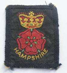 Vintage Scouting Boy Scout   HAMPSHIRE Badge  Cloth Patch. - Confessor the shop for all Collectables Coins Badges Banknotes Medals Tokens militaria